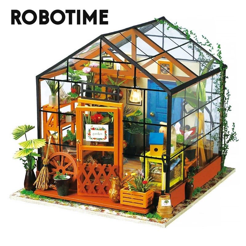 Robotime Casa de muñecas en miniatura para niños y adultos