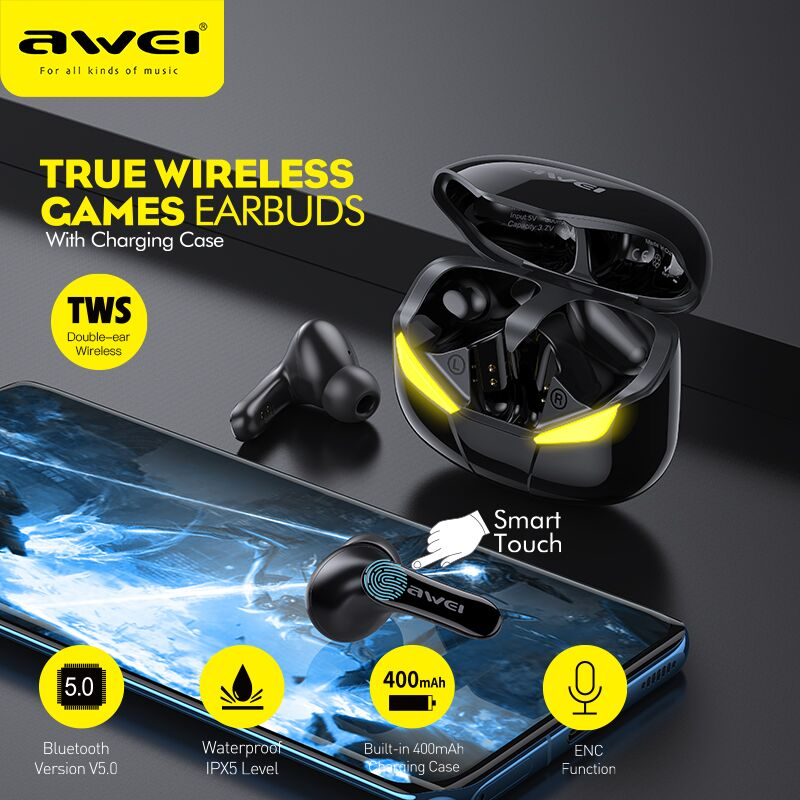 Auriculares Bluetooth Gaming Awei T35