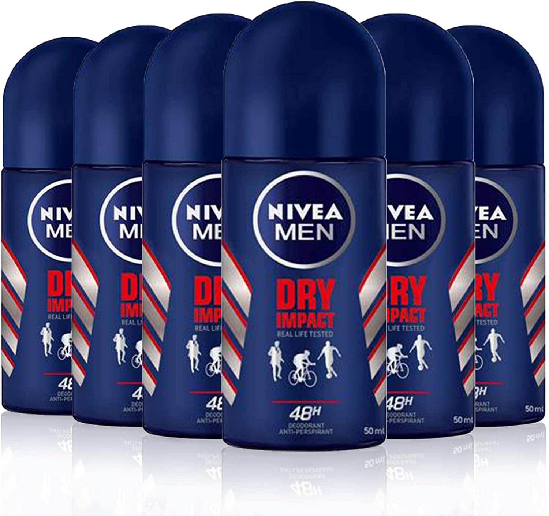 Desodorante Nivea Men Dry Impact Roll-on (6 x 50 ml)