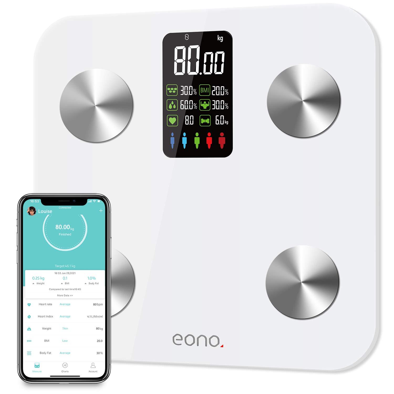 Báscula digital con pantalla grande y Bluetooth