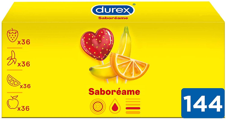 Pack de 144 Preservativos Durex Saboreame con Sabores Afrutados