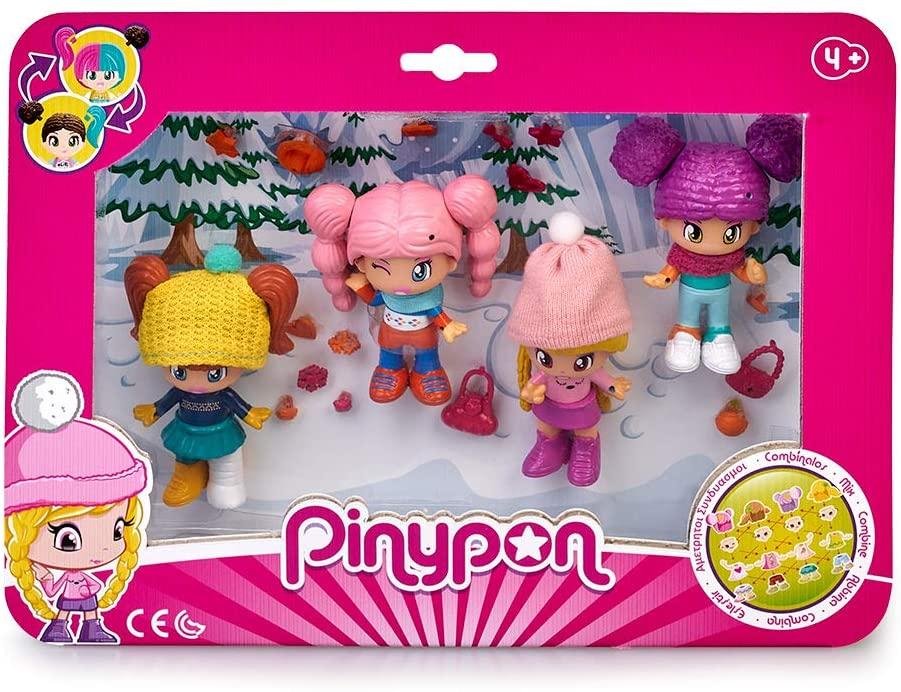 Pack 4 Figuras Nieve de Pinypon