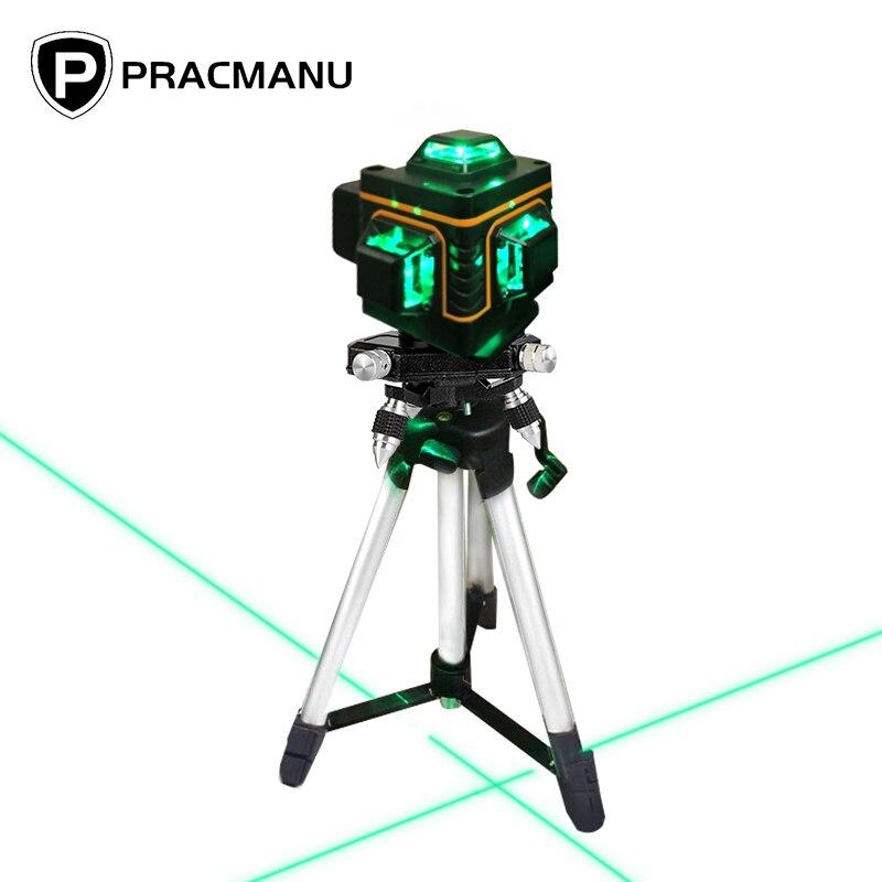 Nivel láser 16 líneas Pracmanu + Accesorios