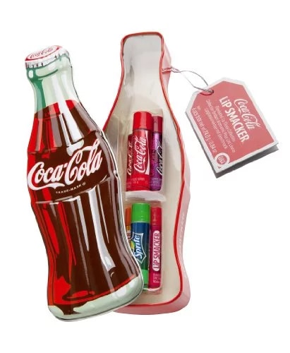 Botella Coca-Cola con 6 labiales