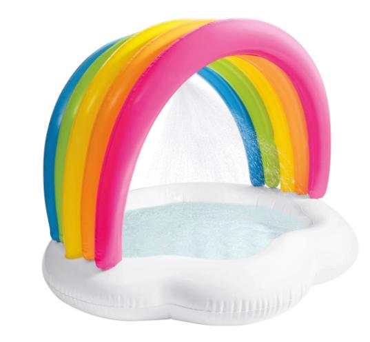 Piscina Hinchable infantil en forma de arcoíris