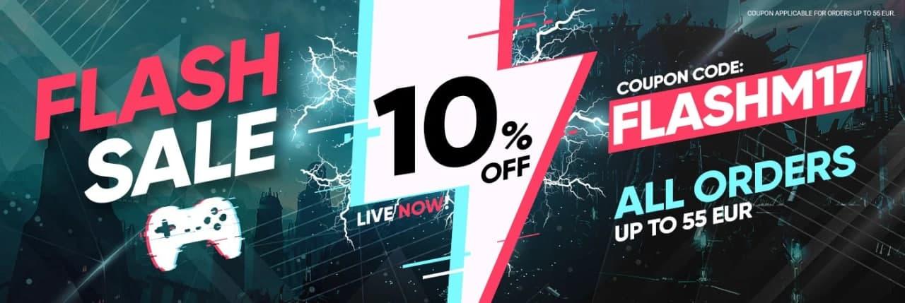 Flash Sale: 10% de Descuento en Gamivo
