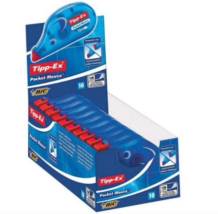 Pack 10xCinta Correctora BIC Tipp-Ex Pocket Mouse