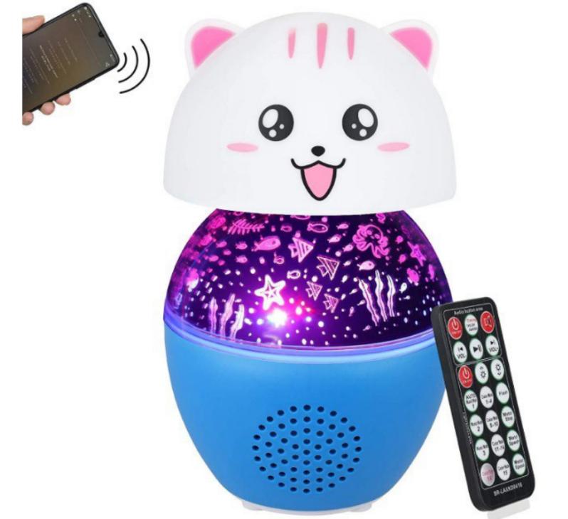 Lámpara Altavoz Proyector de Estrellas Infantil