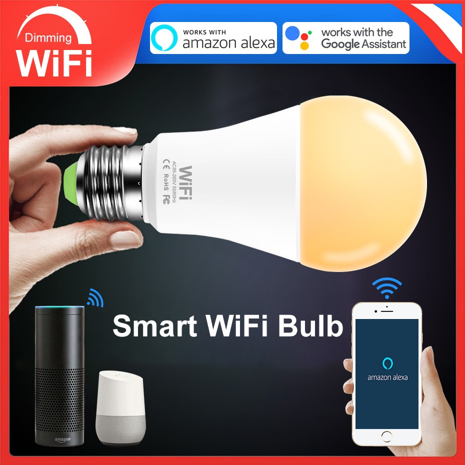 Bombilla Inteligente WiFi LED E27 15W
