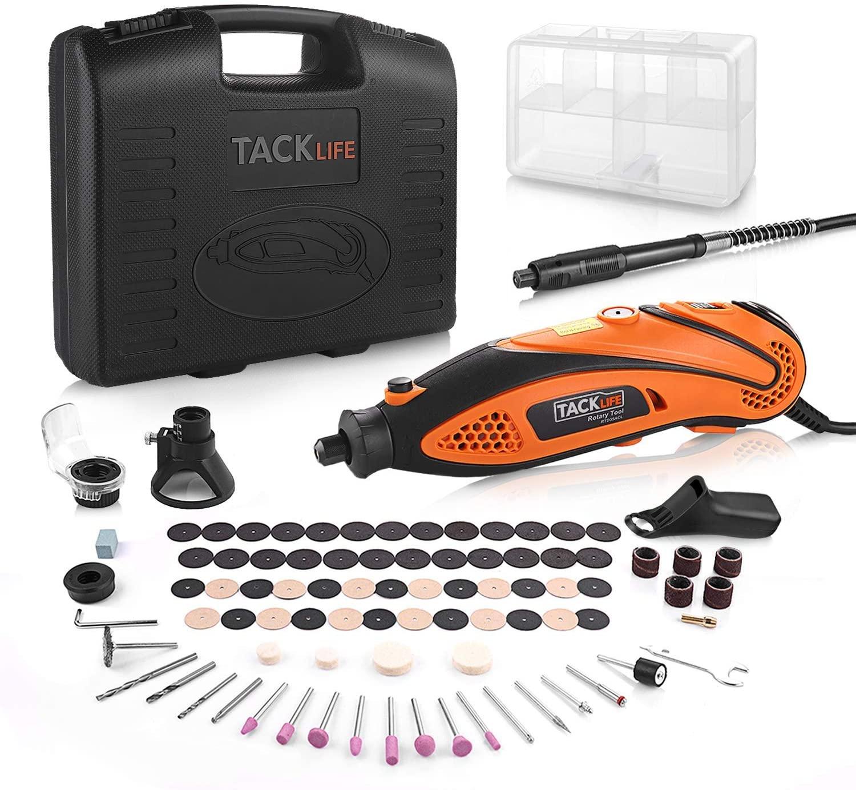 Mini amoladora eléctrica Tacklife + 80 accesorios