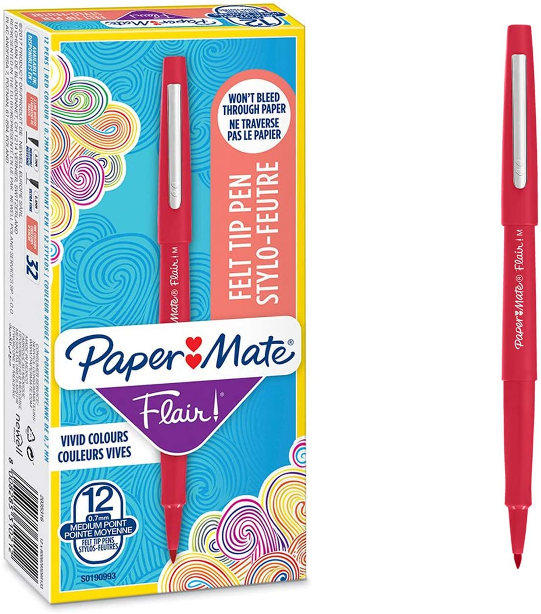 Caja de 12 rotuladores Paper Mate Flair