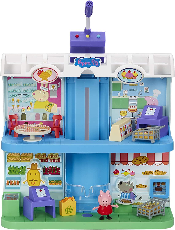 Peppa Pig - Playset Centro Comercial con figuras