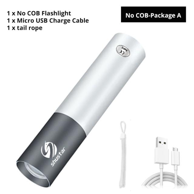 Mini linterna LED recargable USB