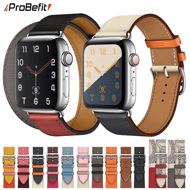 Correa de cuero para Apple Watch SE
