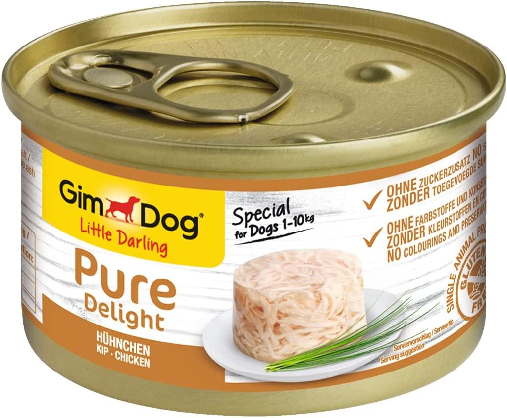 Pack de 18 Latas GimDog Pure Delight de Pollo