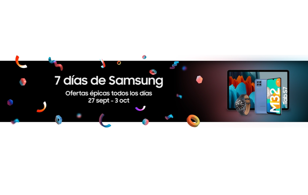 7 días de ofertas en Samsung desde Amazon