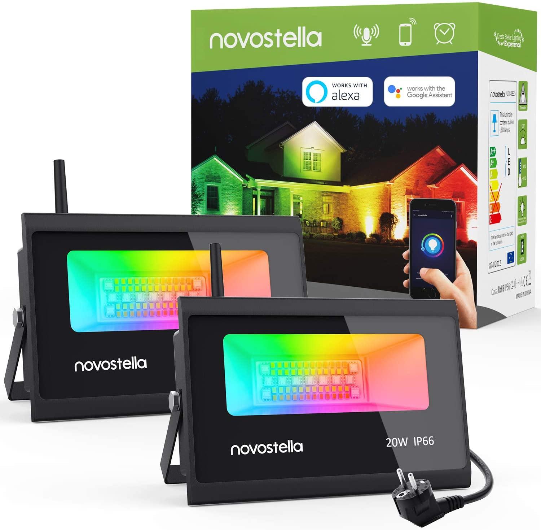 2 Focos LED RGBW WiFi 20W Novostella