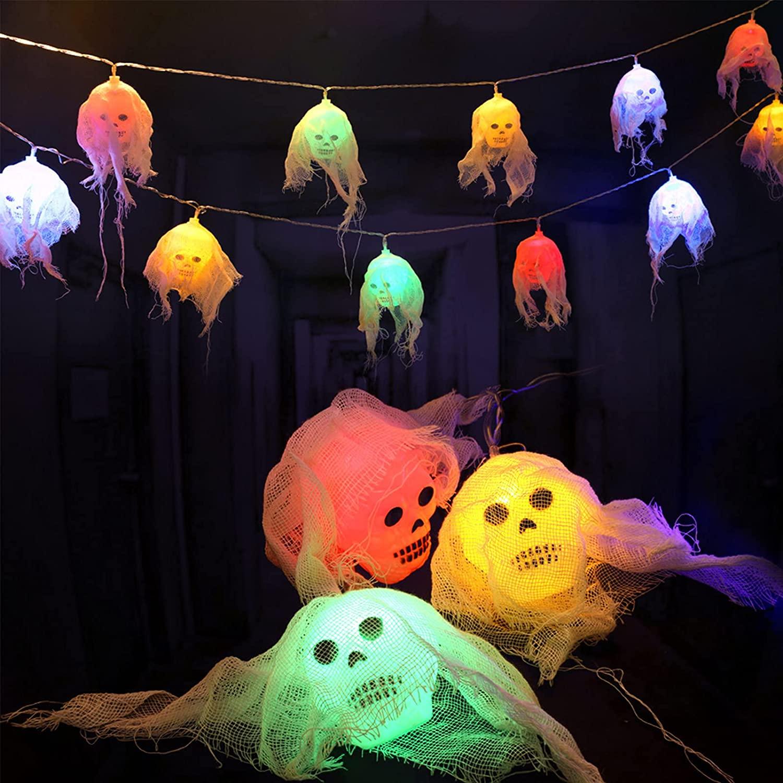 Pack calaveras LED para Halloween