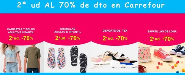 2ª unidad al 70% dto. en ropa en Carrefour