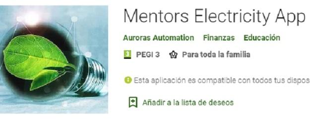 Calcula la electricidad de las cosas con Mentors Electricity App