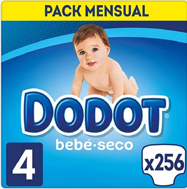 Pack de 256 pañales talla 4  Dodot Bebé Seco