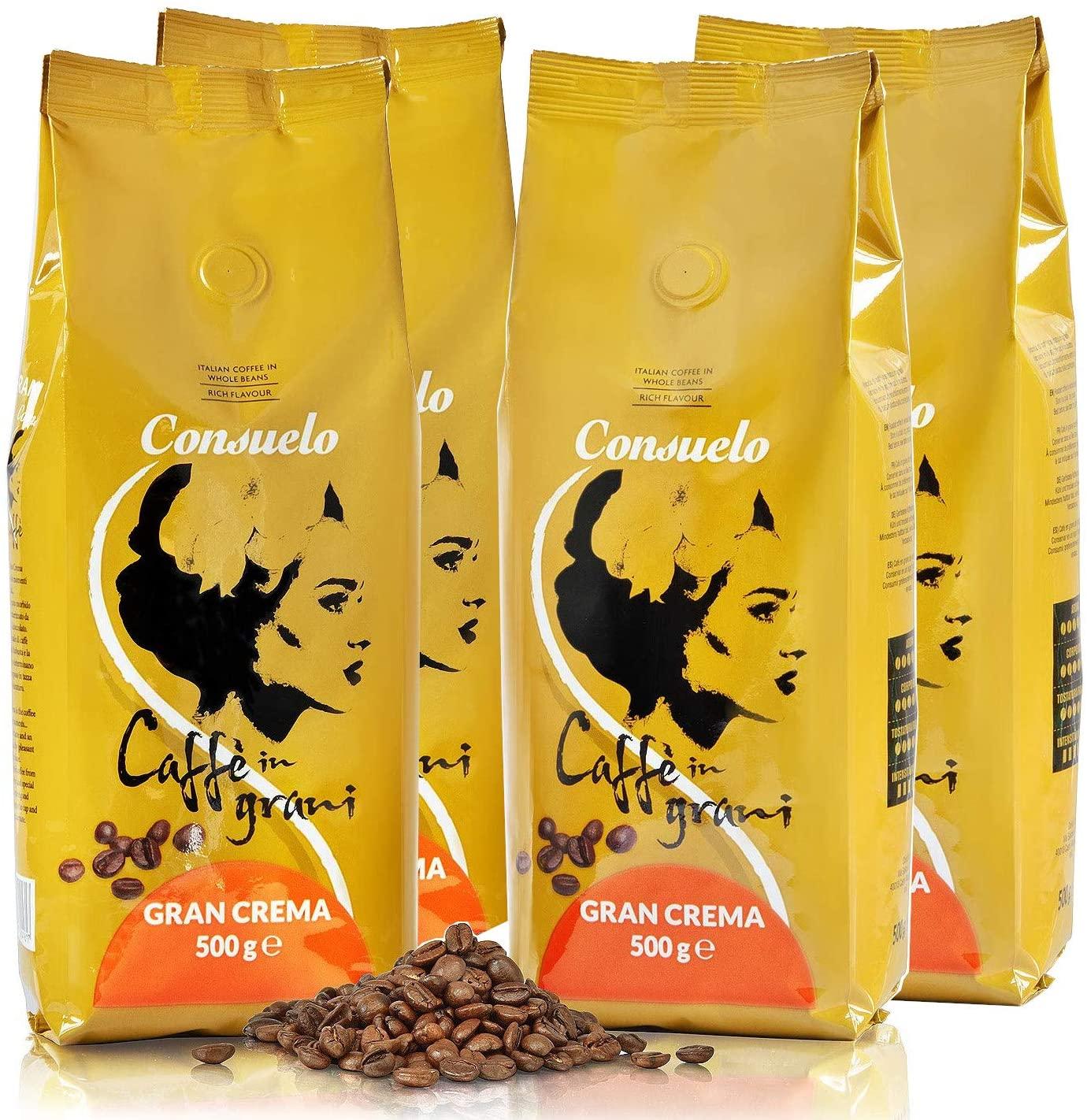 4 paquetes Café italiano en grano Consuelo 500 gr