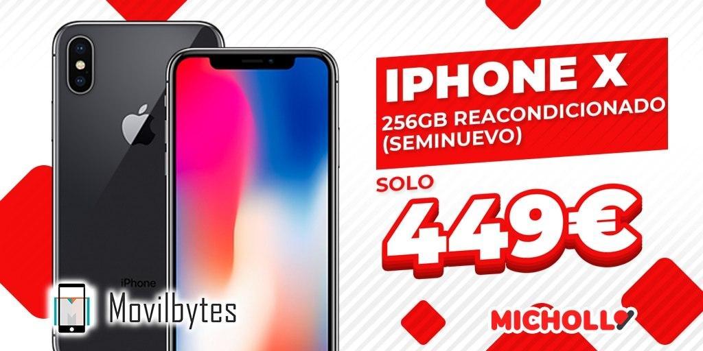 iPhone X 256GB Reacondicionado (Seminuevo)