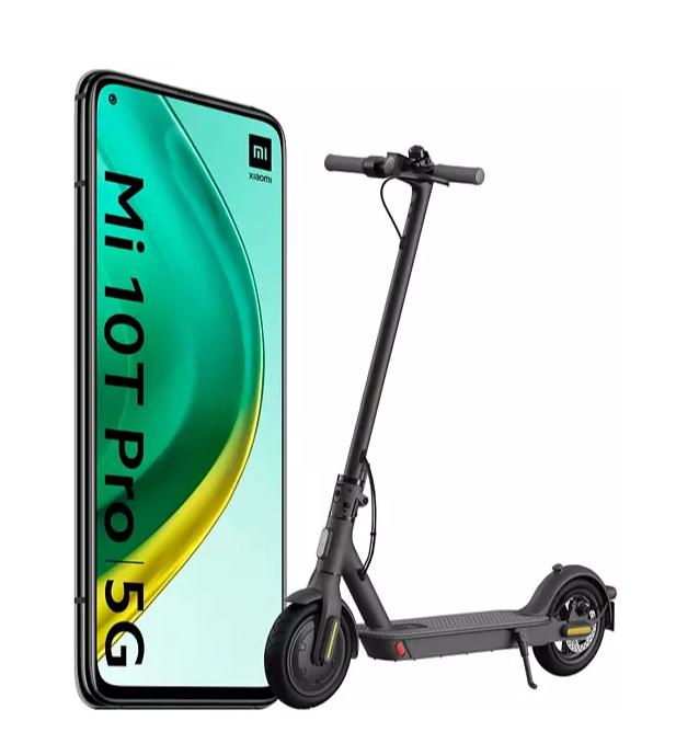 Pack Xiaomi Mi 10T Pro 5G Negro + Mi Electric Scooter 1S