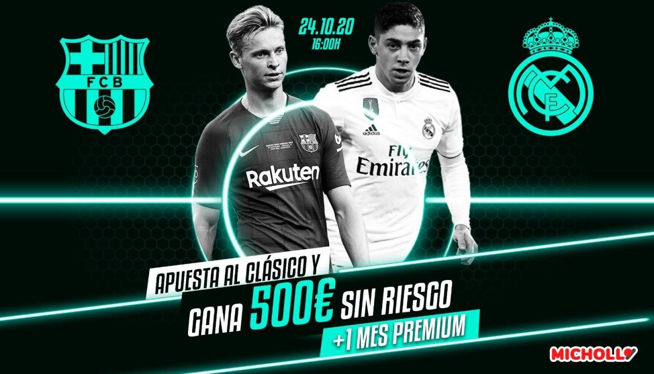 500€ retirables Barcelona  Real Madrid La Liga + Regalo Picks Premium