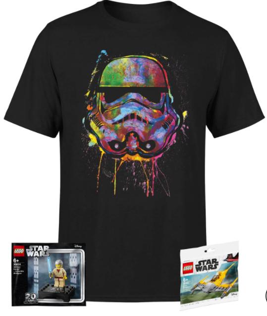 Pack Star Wars: Camiseta Star Wars + 2 Minifiguras LEGO Star Wars