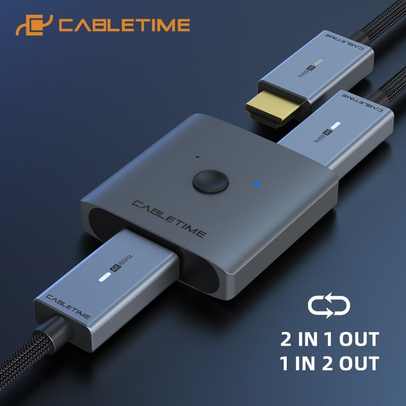 Switch-Splitter HDMI Cabletime 4K