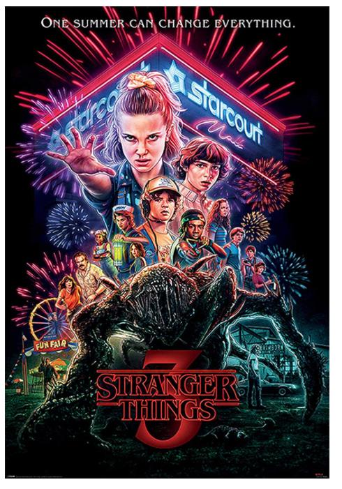 Poster XL de Stranger Things