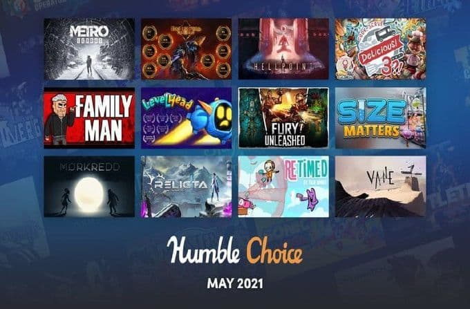 Videojuegos baratos en el Humble Choice de mayo