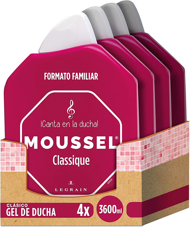 Pack de 4 geles de ducha Moussel
