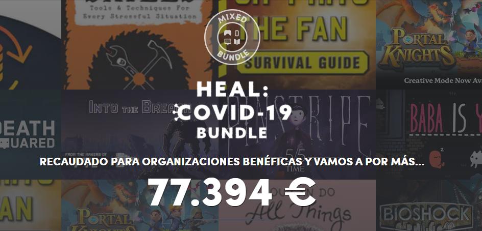 Heal Covid Bundle de videojuegos en Humble Bundle
