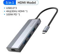 Switch 5 en 1 USB C Orico