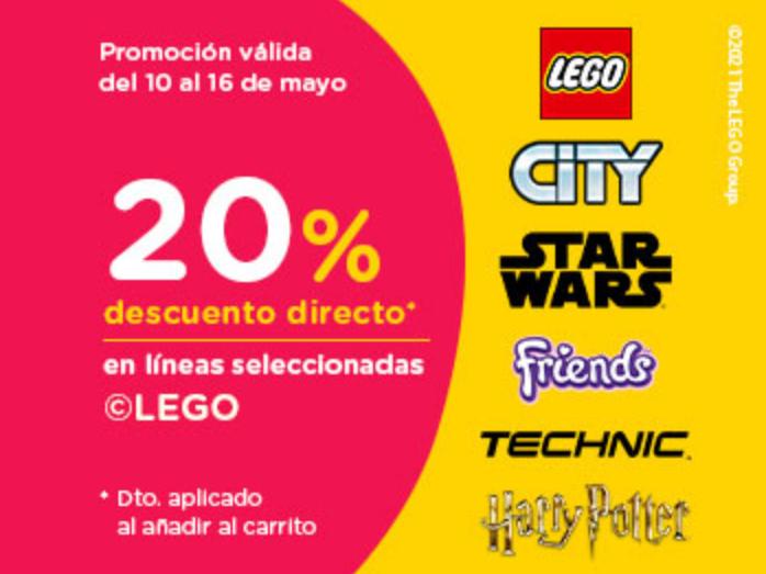 Descuento del 20% en sets LEGO