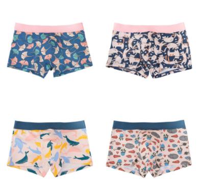Cuatro boxers con diseño para hombre
