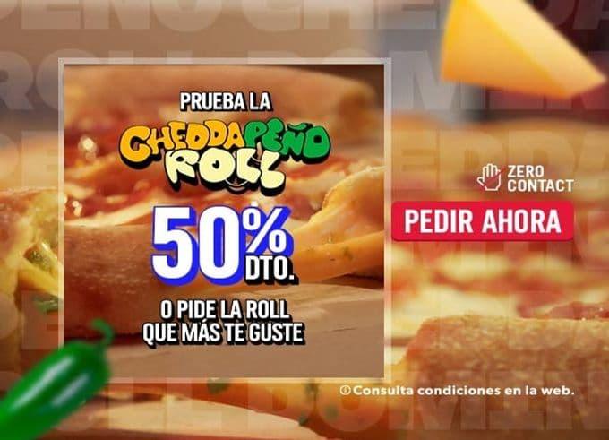 50% de descuento en los Pizza Rolls de Domino's
