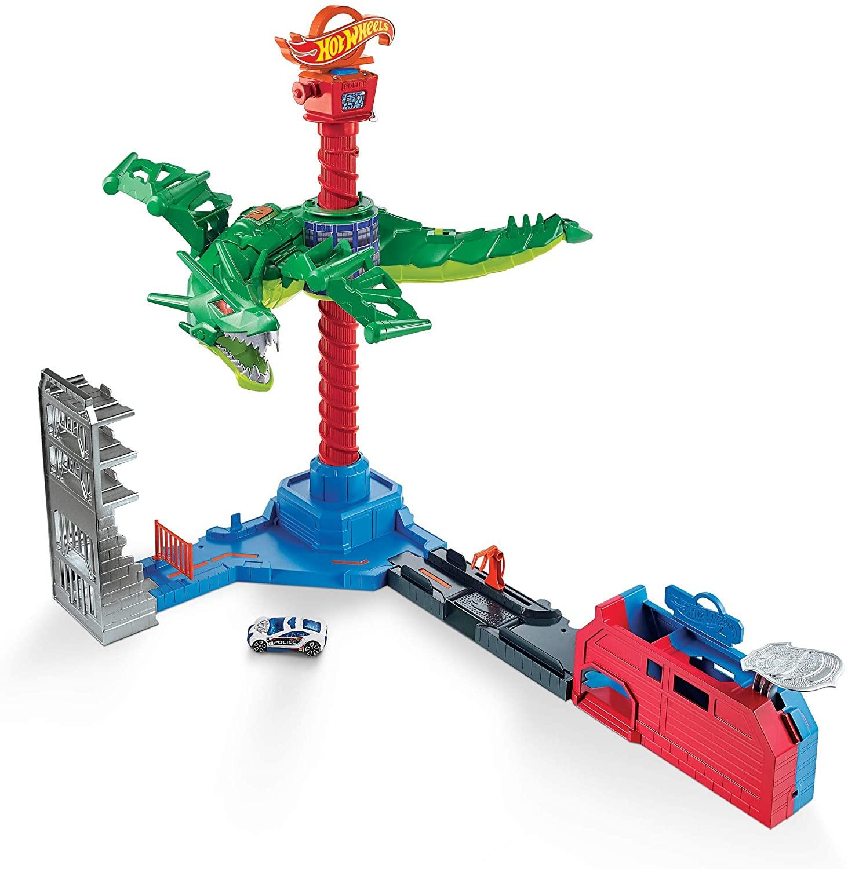 Pista Hot Wheels Dragón Robótico