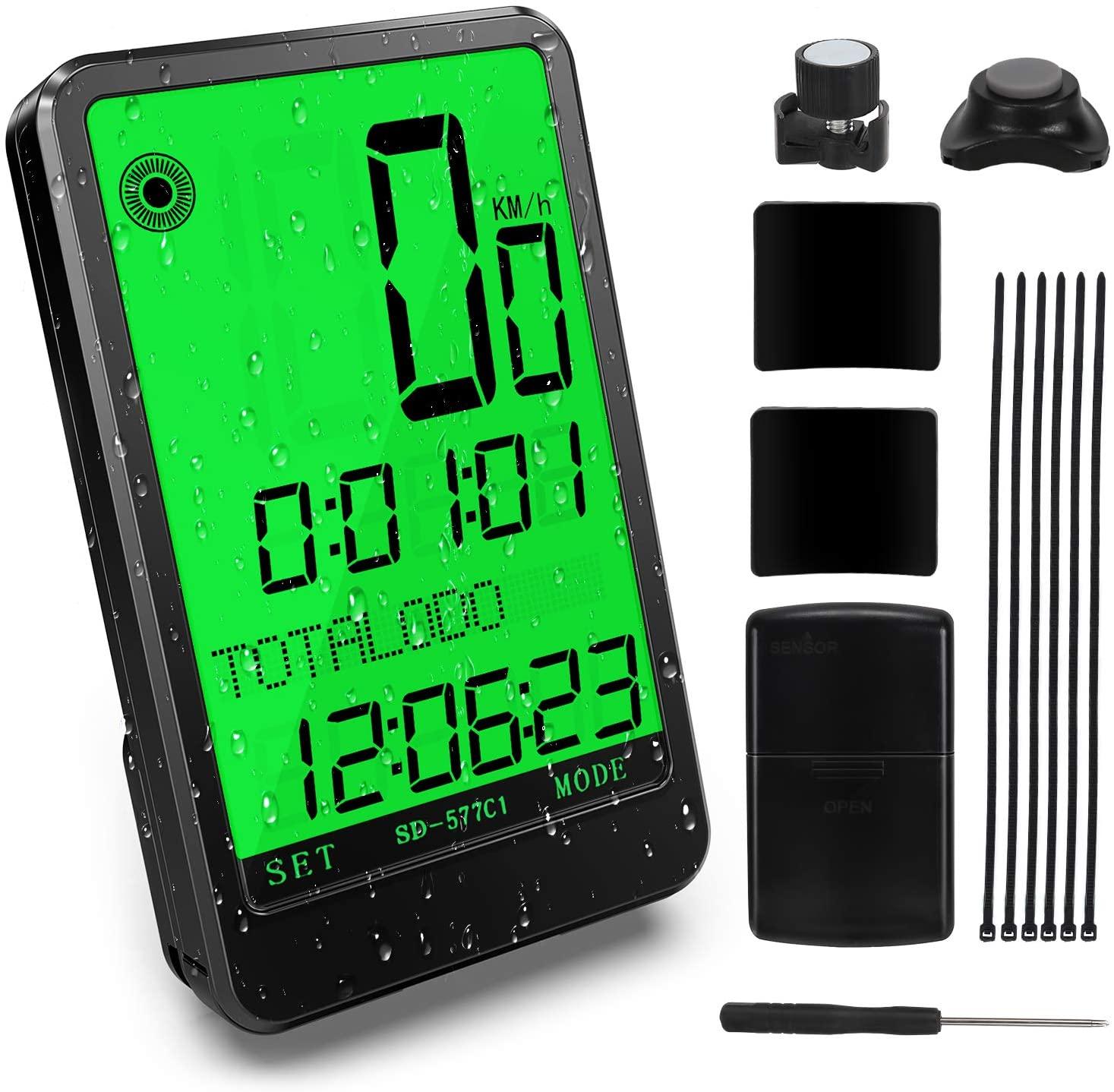 Cuentakilómetros inalámbrico para Bicicleta con 32 funciones