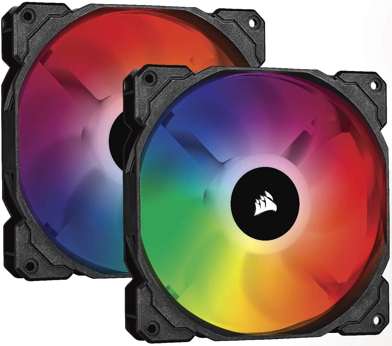 Dos Ventiladores Corsair iCUE SP140 RGB PRO