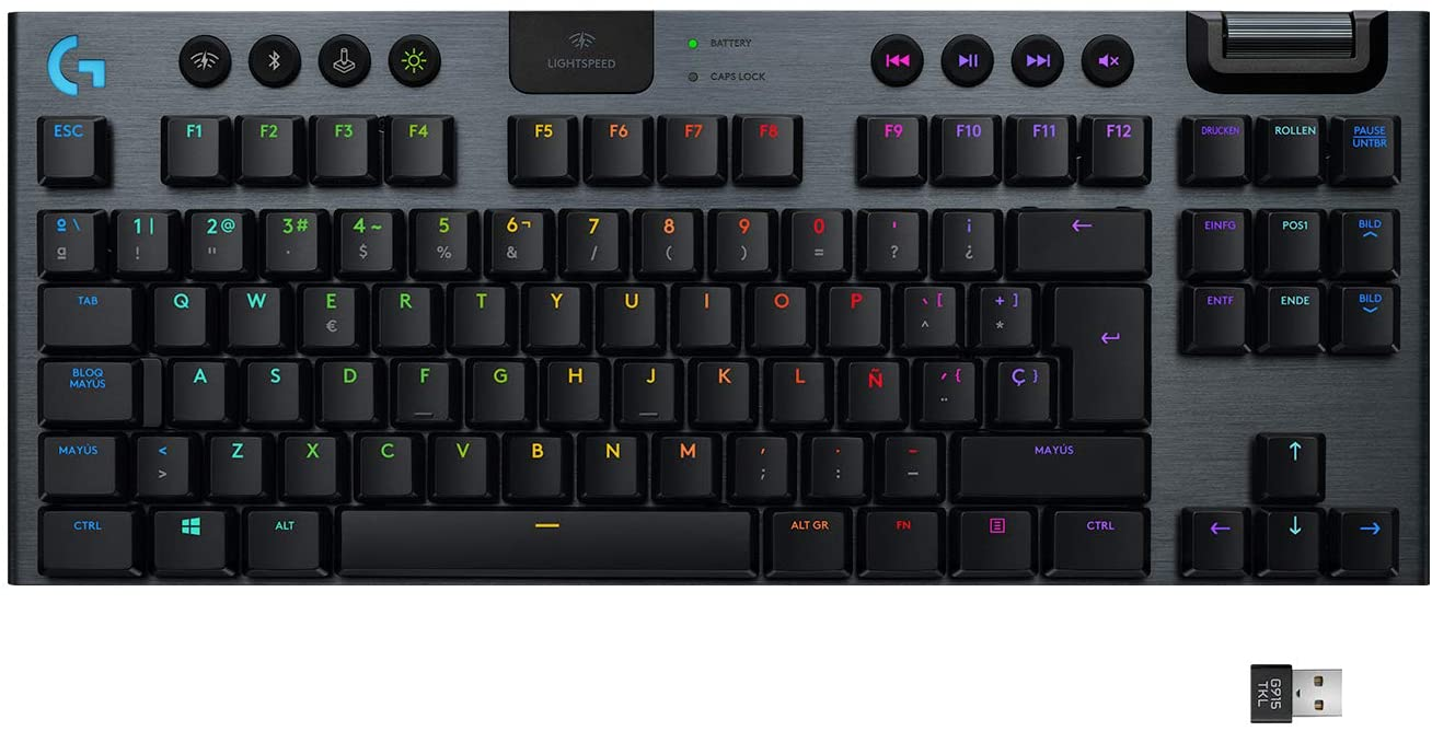Teclado gaming Logitech G915 LIGHTSPEED TKL