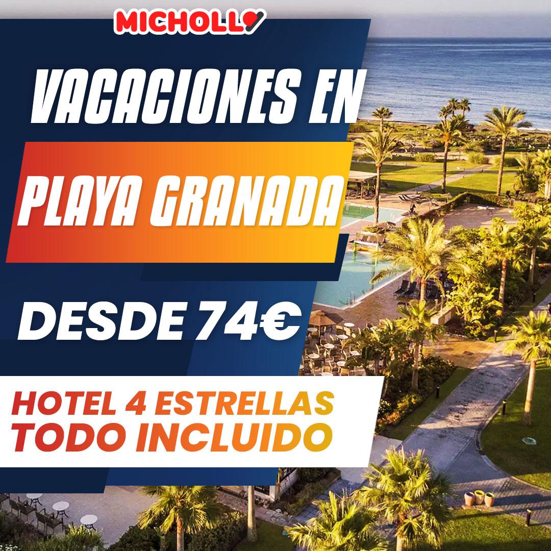 Vacaciones en Playa Granada en Hotel 4 ⭐️ con todo incluido desde 74€