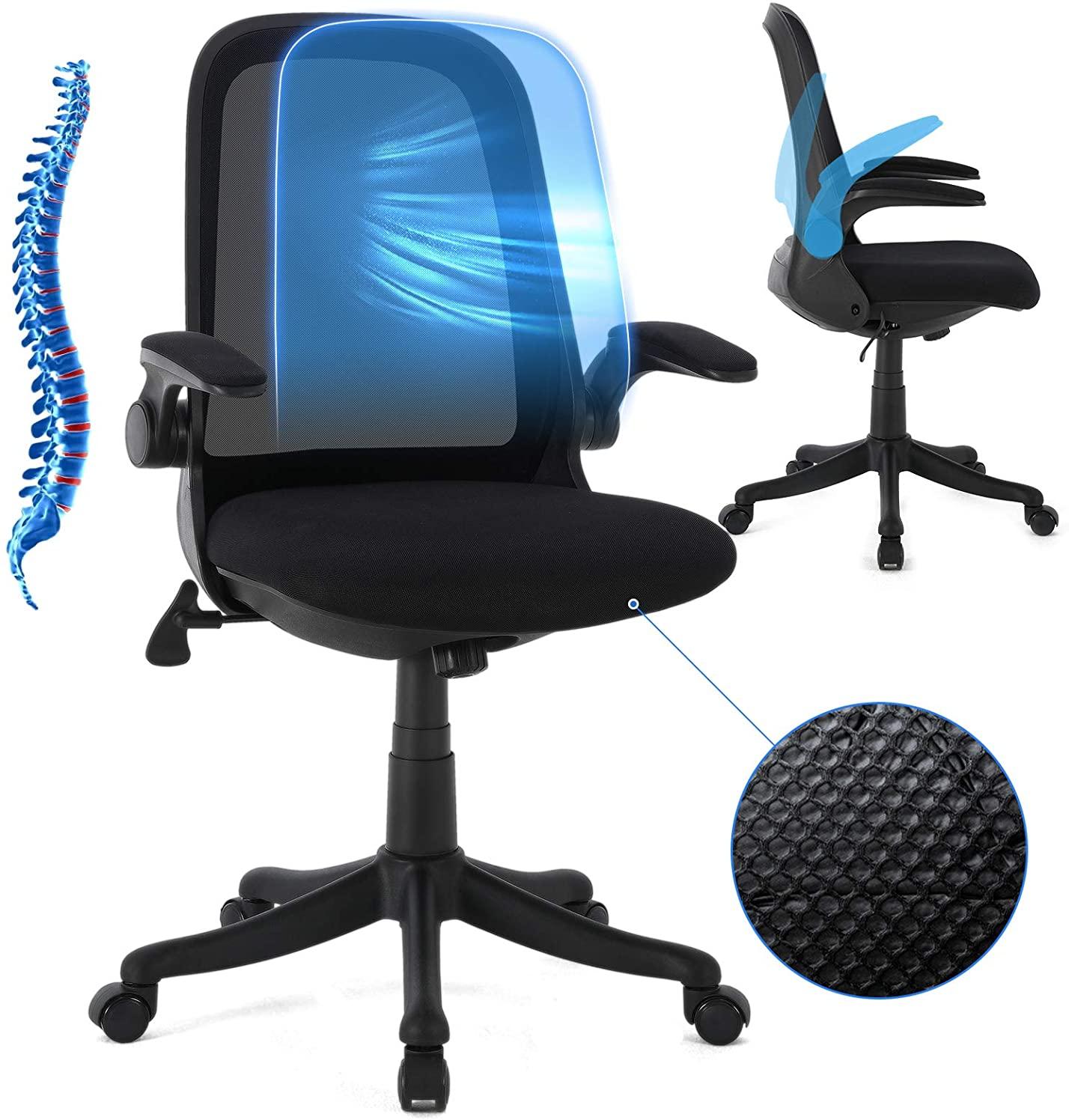 Silla de oficina con respaldo transpirable
