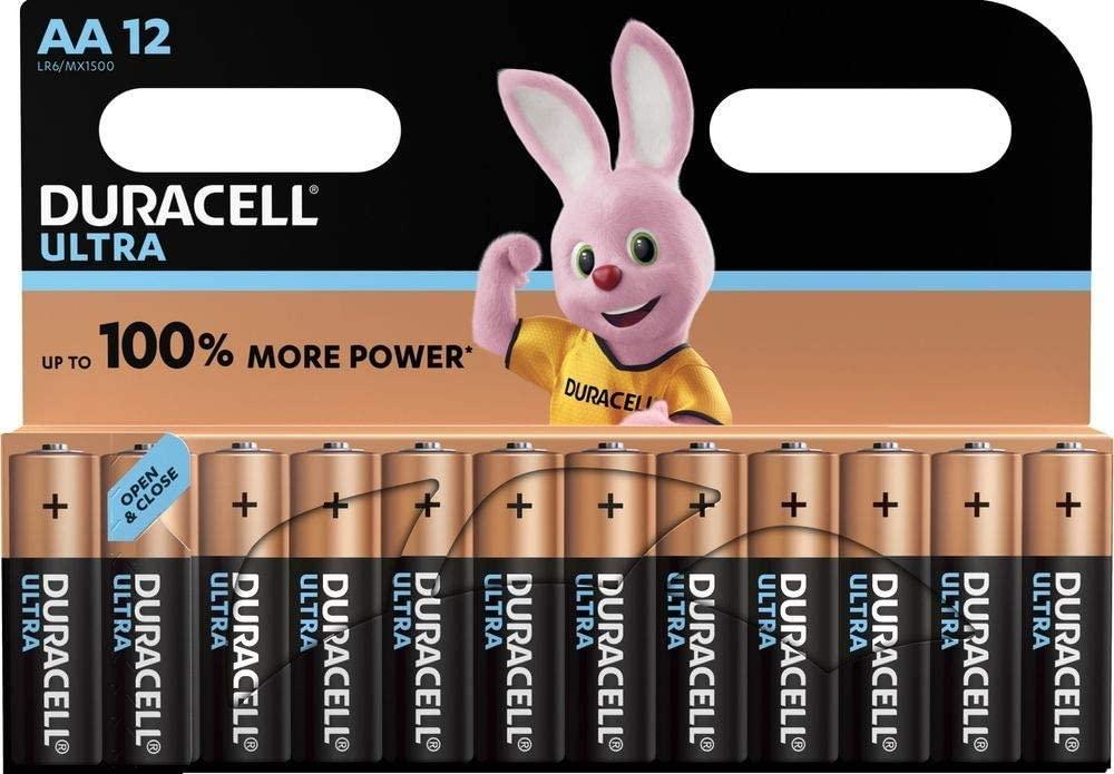 Paquete de 12 Pilas Alcalinas Duracel Ultra AA Mignon LR6