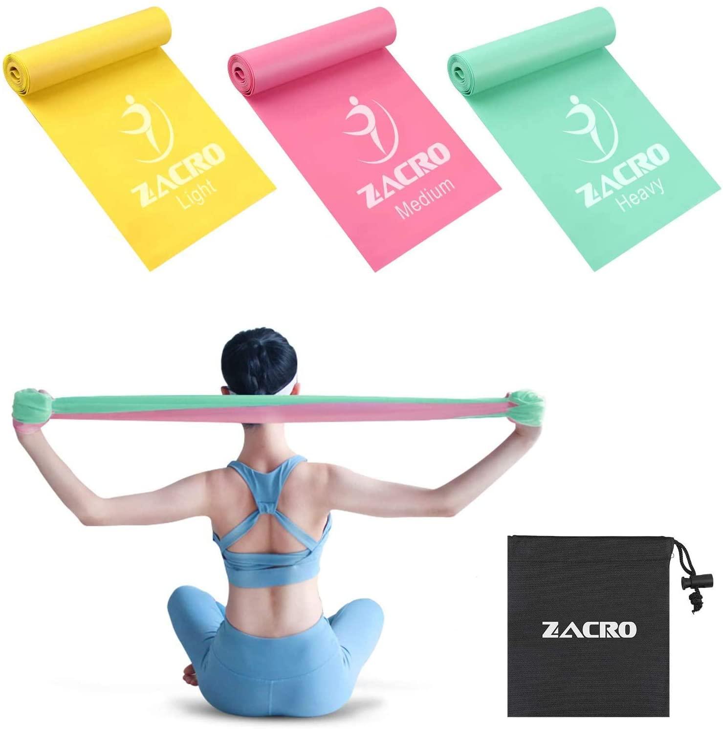 Tres tiras elásticas Fitness de Zacro