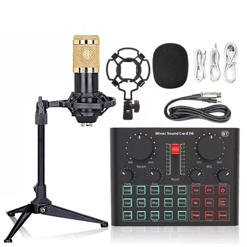 Micrófono de condensador BM800 + Mesa de meclas + Accesorios