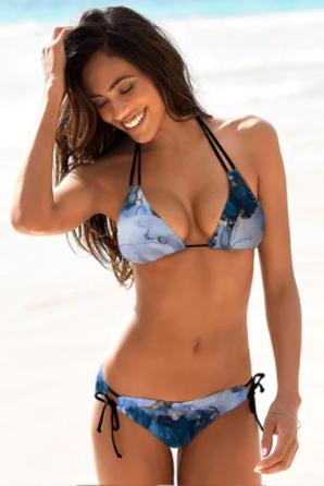 Bikini de dos piezas con estampado Floral