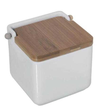 Salero de cerámica con tapa